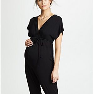 Isabel Maternity Belted Jumpsuit Black NWT